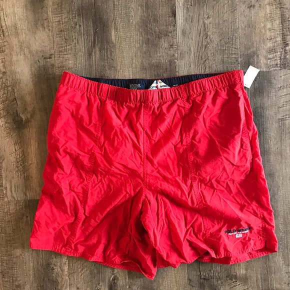 53148636 Polo sport red swim trunks large